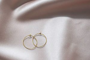 Circular Hoop Earrings- Small