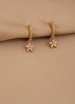 Flower Huggie Earrings