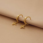 Star Huggie Earrings