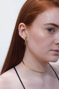 Gold Quartz Earring