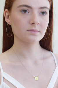 Large Hexagon Hoops