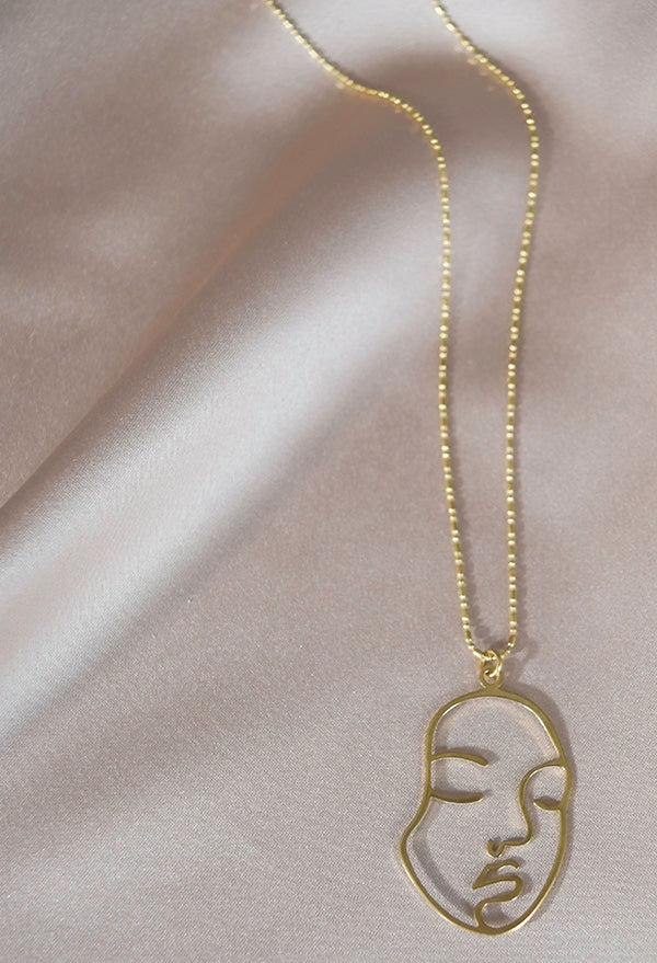 Zen Face Pendant Necklace