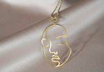 Zen Face Necklace