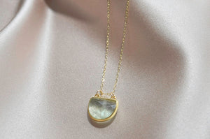 Aquamarine Moon Necklace