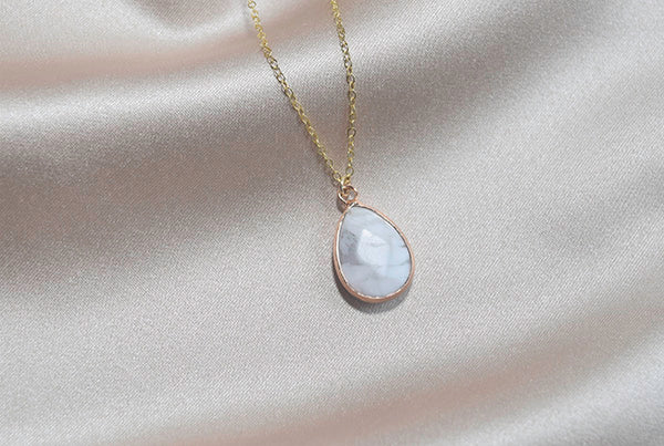 Howlite Drop Necklace