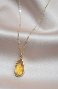 Honey Quartz Necklace