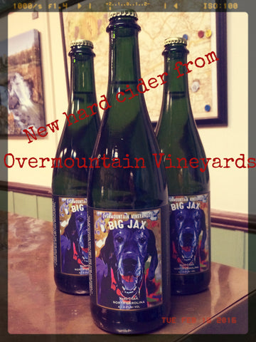 new hard cider big jax from overmountain vineyards