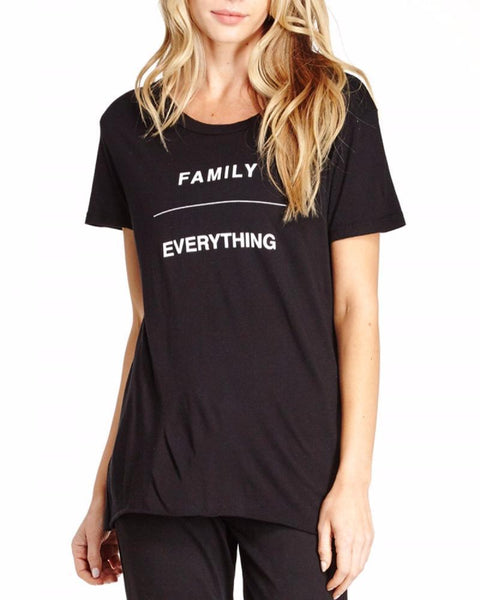 good hYOUman. | Family Over Everything Coco Tee | Black-Tops-Mod + Ethico