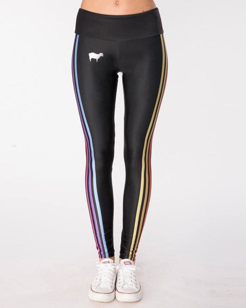 Goldsheep Clothing Rainbow Striped Leggings-Leggings-Mod + Ethico