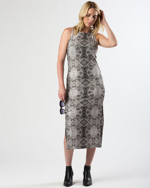 Suki + Solaine | Racerback Midi with Side Slits | Rowan Print-Dress-Mod + Ethico