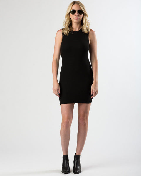 Groceries Apparel | Rib Knit Mini Dress | Black-Dress-Mod + Ethico