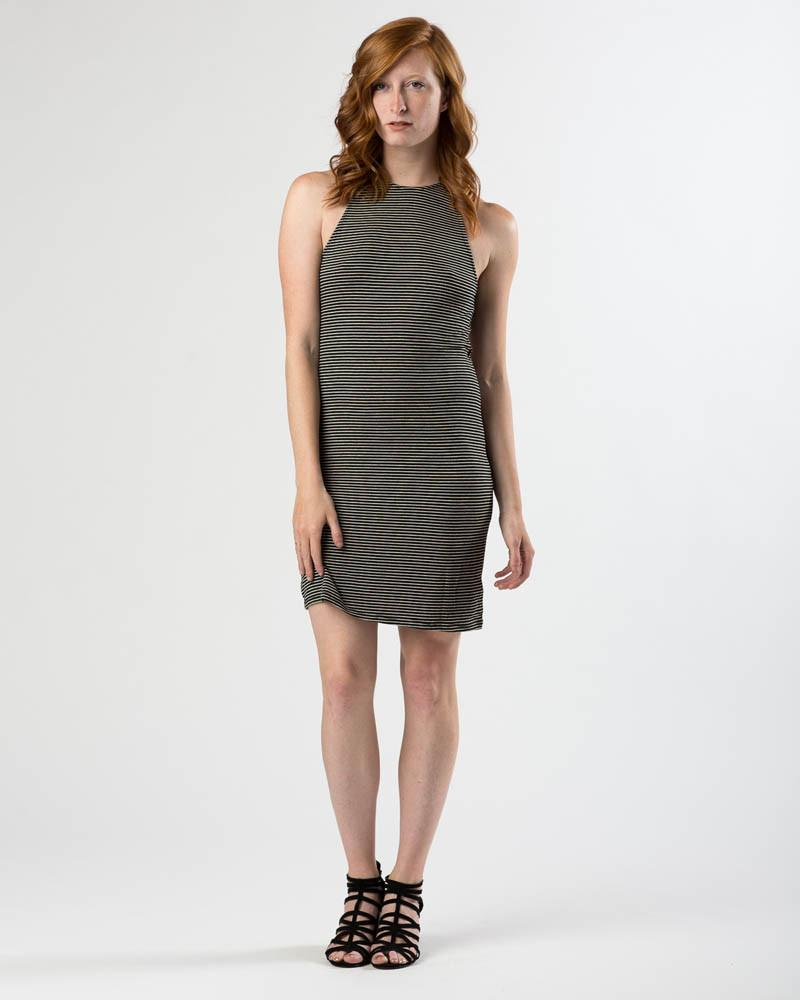 78708d24f19 Project Social T Black Taupe Striped Open-Back Dress – Mod + Ethico