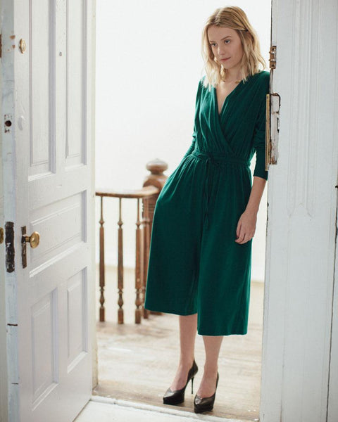 People Tree | Sienna Jumpsuit | Green-Jumpsuit-Mod + Ethico