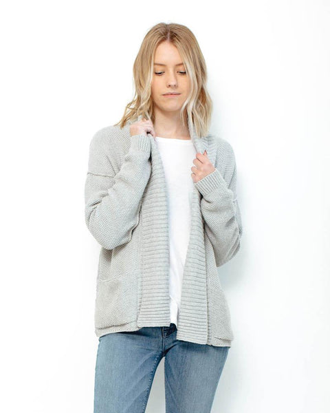 Nation LTD | Murray Hill Cardigan | Heather Grey-Cardigan-Mod + Ethico