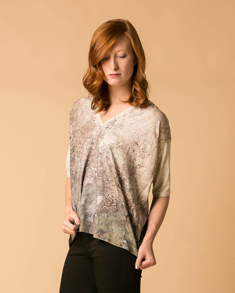 Multi-pattern Dolman Sleeve Top in Fresco-Short-Sleeve Top-Mod + Ethico