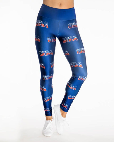 Goldsheep Clothing | USA Fitness Legging | Blue-Leggings-Mod + Ethico