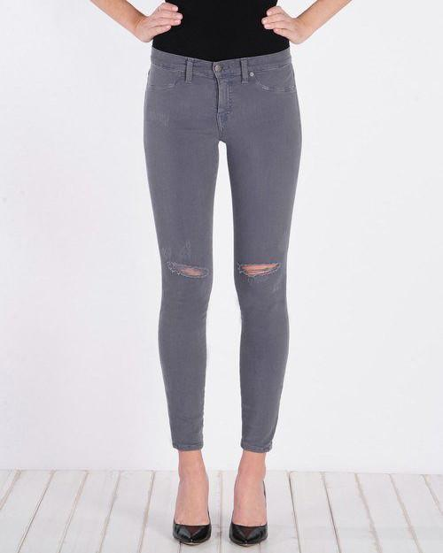 Henry & Belle Super Skinny Ankle - Washed Grey - Distressed-Bottoms-Mod + Ethico