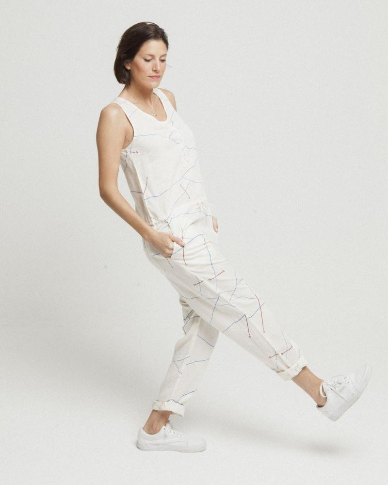 Thinking MU | Abstract Lines Jumpsuit-Jumpsuit-Mod + Ethico
