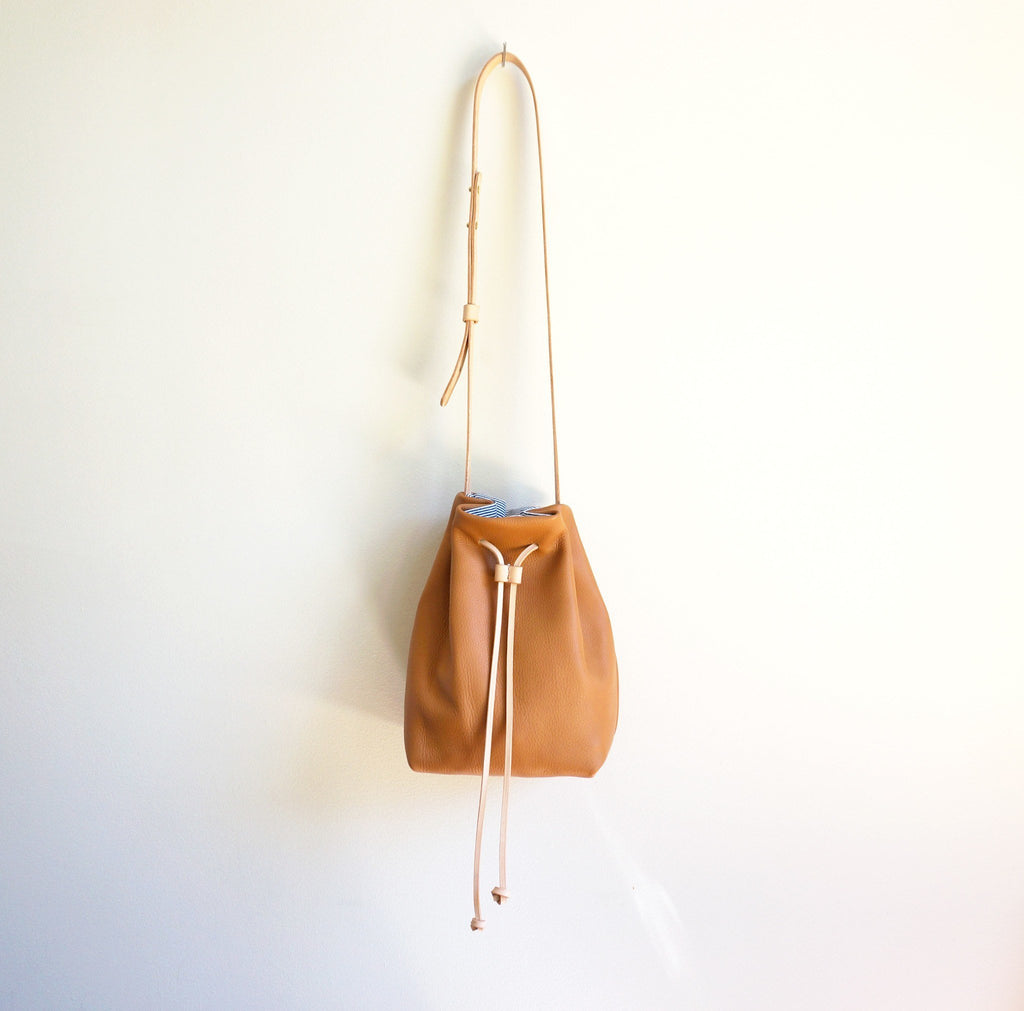Tan Leather Bucket Bag | Umbrella Collective-Handbag-Mod + Ethico