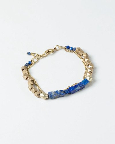 Bracelet - ME To WE Blue Lazuli Geometric Beaded Bracelet | The Lapis