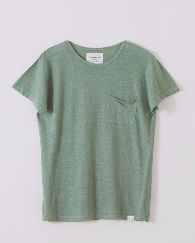 Thinking MU | Men's Hemp Hedge Green Pocket T | Green-Men's Shirts-Mod + Ethico