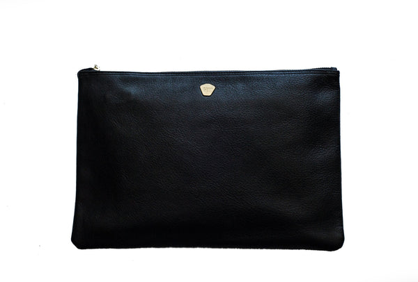 Holly & Tanager | The Sidekick Clutch | Black & Pewter-Clutch-Mod + Ethico