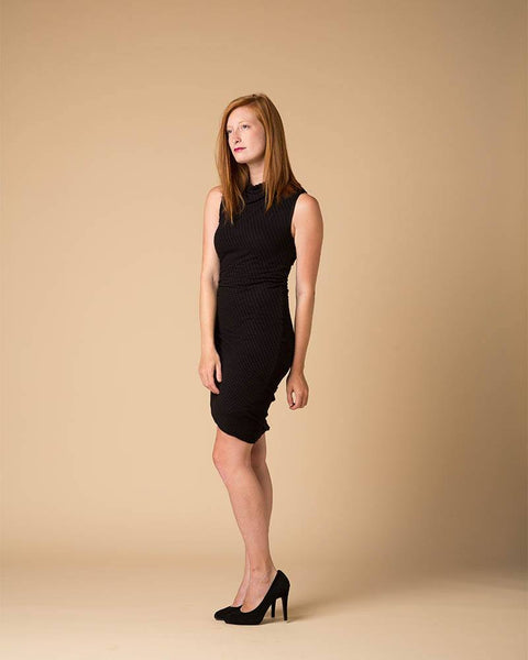 Dress - Suki + Solaine Black Stratus Twist Tank Dress