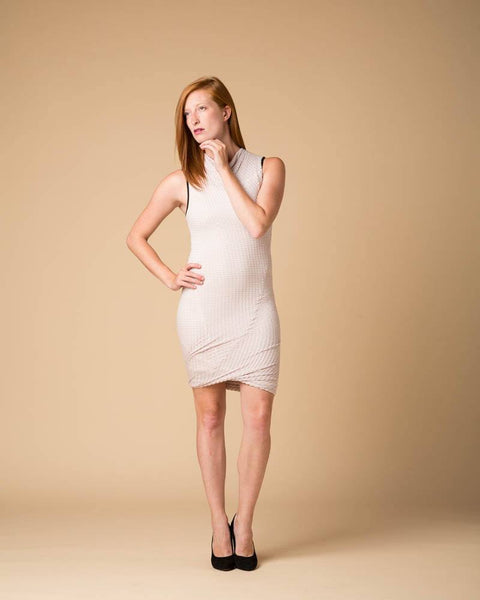 Dress - Suki + Solaine Lilac/Grey Stratus Twist Tank Dress