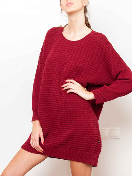 Dress - Thinking MU Square Organic Cotton Knit Sweater Dress
