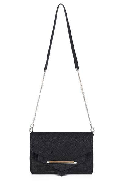 Black Onyx Convertible Shoulder Bag/Clutch | The San Remo-Handbag-Mod + Ethico