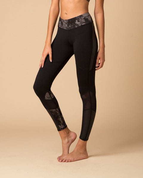 Leggings - NUX Levity Legging | Black/Smokey Heather Grey