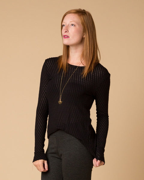 Longsleeve Tops - Suki + Solaine Black Stratus Long Sleeve Top