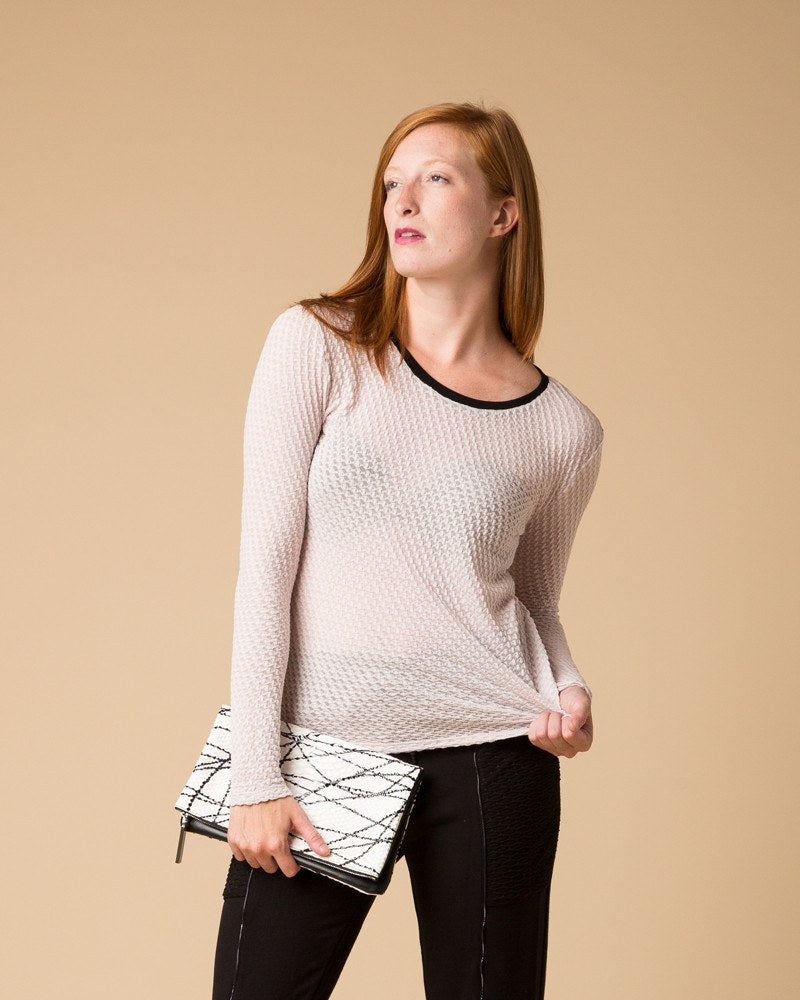 Longsleeve Tops - Suki + Solaine Grey Lilac Stratus Long Sleeve Top