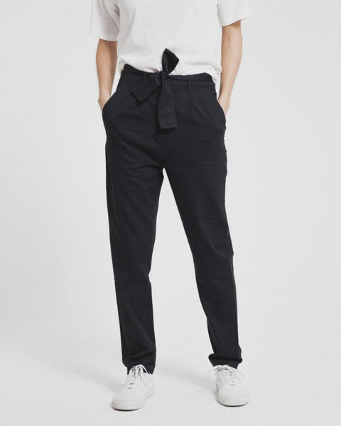 Thinking MU | Soft Black High-waisted Belted Trouser-Pant-Mod + Ethico