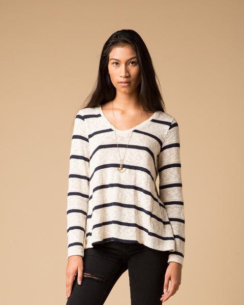Splendid Striped Sweater | Flyback Sweater-Sweater-Mod + Ethico
