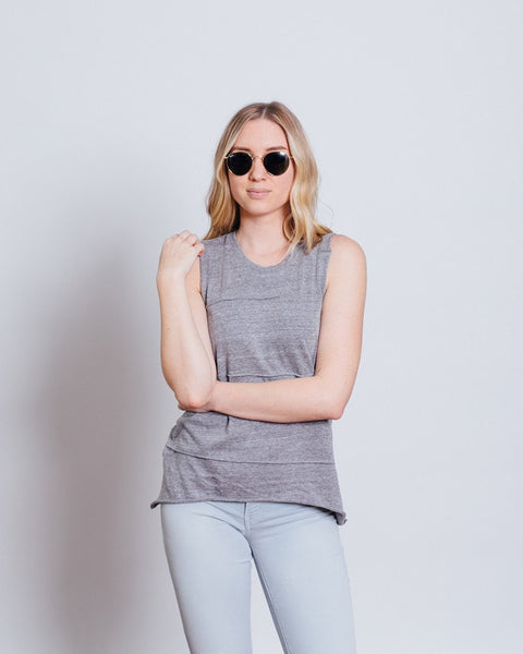 Nation LTD Allison Tank | Heather Grey Muscle Tank-Tanks-Mod + Ethico
