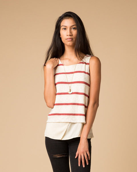 Splendid Striped Layer Tank-Tanks-Mod + Ethico