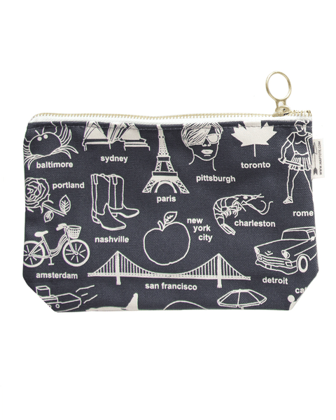 Maptote Multi-City Grey Travel Pouch-Travel Pouch-Mod + Ethico