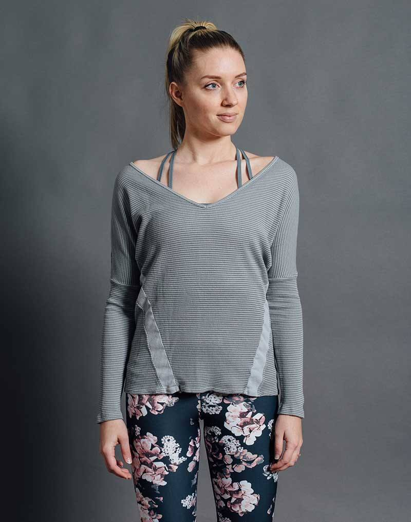 NUX Inspire Top - Grey-Workout Tops-Mod + Ethico
