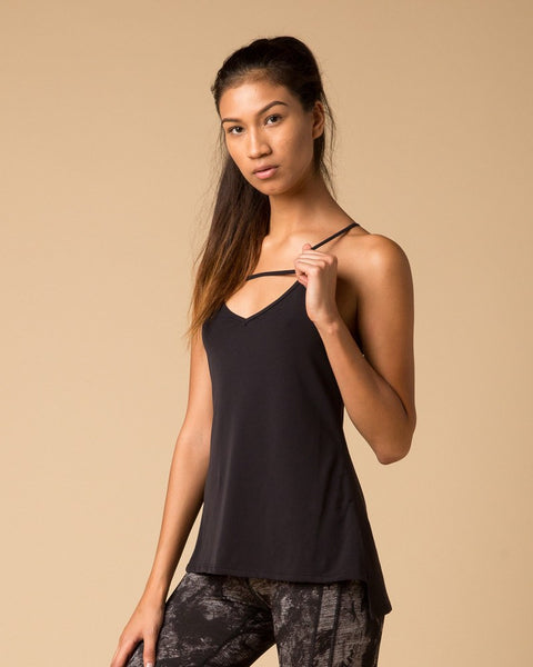 Workout Tops - NUX Ladder Workout Cami | Black