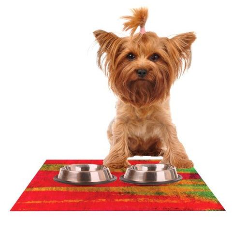 "Kess InHouse Ebi Emporium ""Fierce"" Feeding Mat for Pet Bowl, 18 by 13-Inch"
