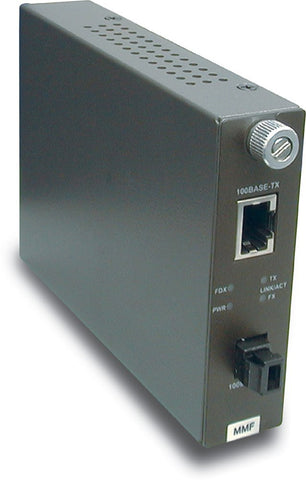 TRENDnet 100Base-TX to 100Base-FX Multi Mode MT-RJ Fiber Converter (2 Km /1.2 Miles), TFC-110MM