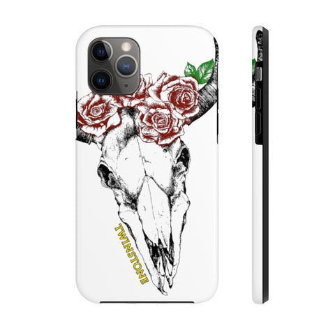 Rose Skull Matte Tough Phone Cases