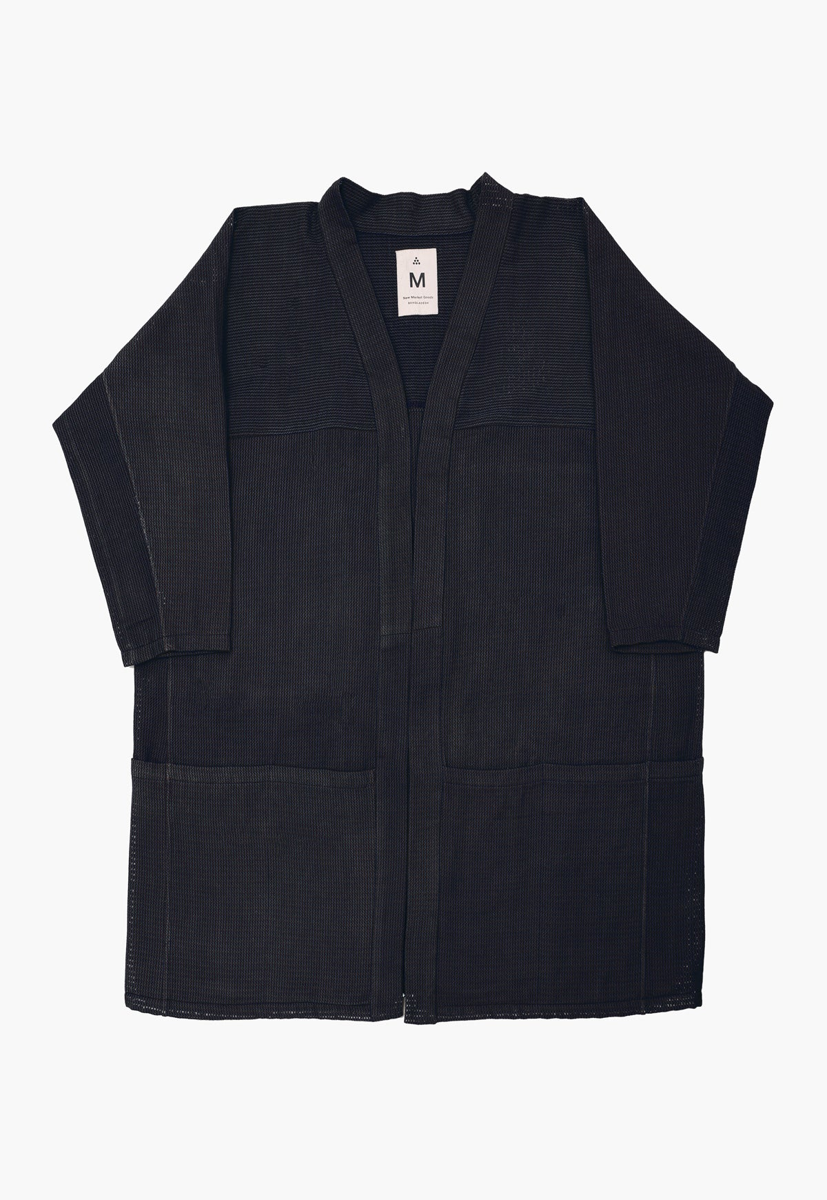 Black Twill Pocket Hanten