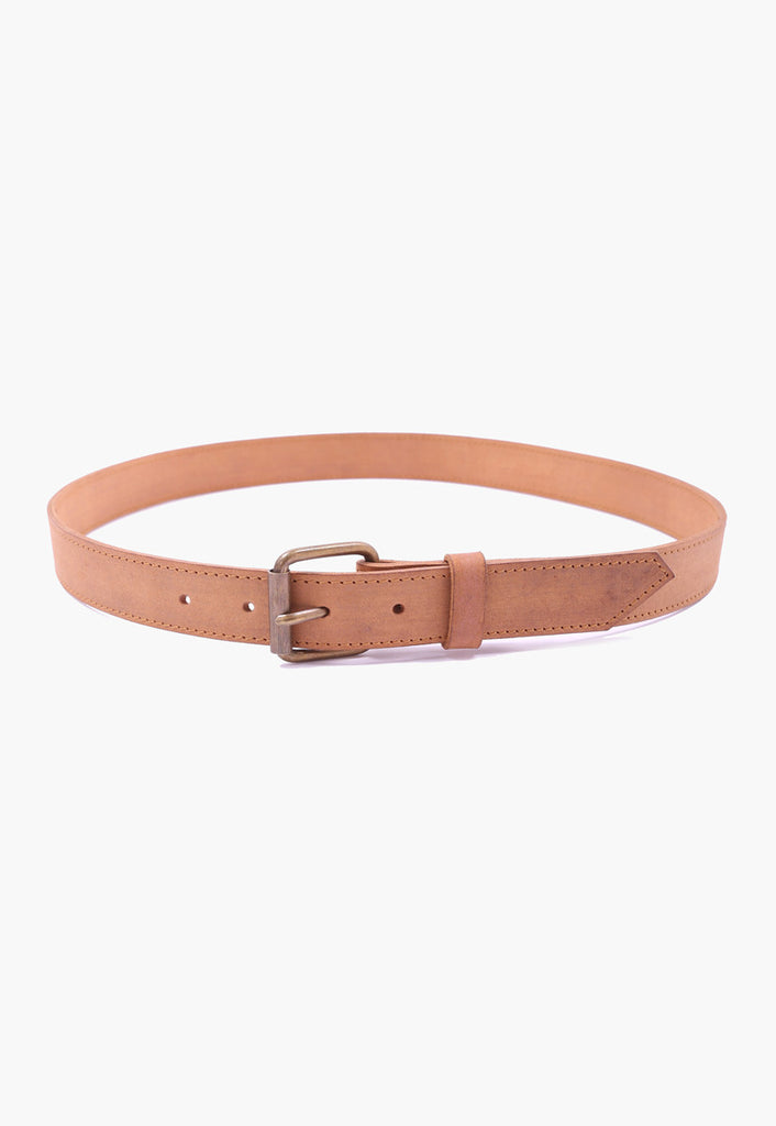 Castor-oiled Leather Belt