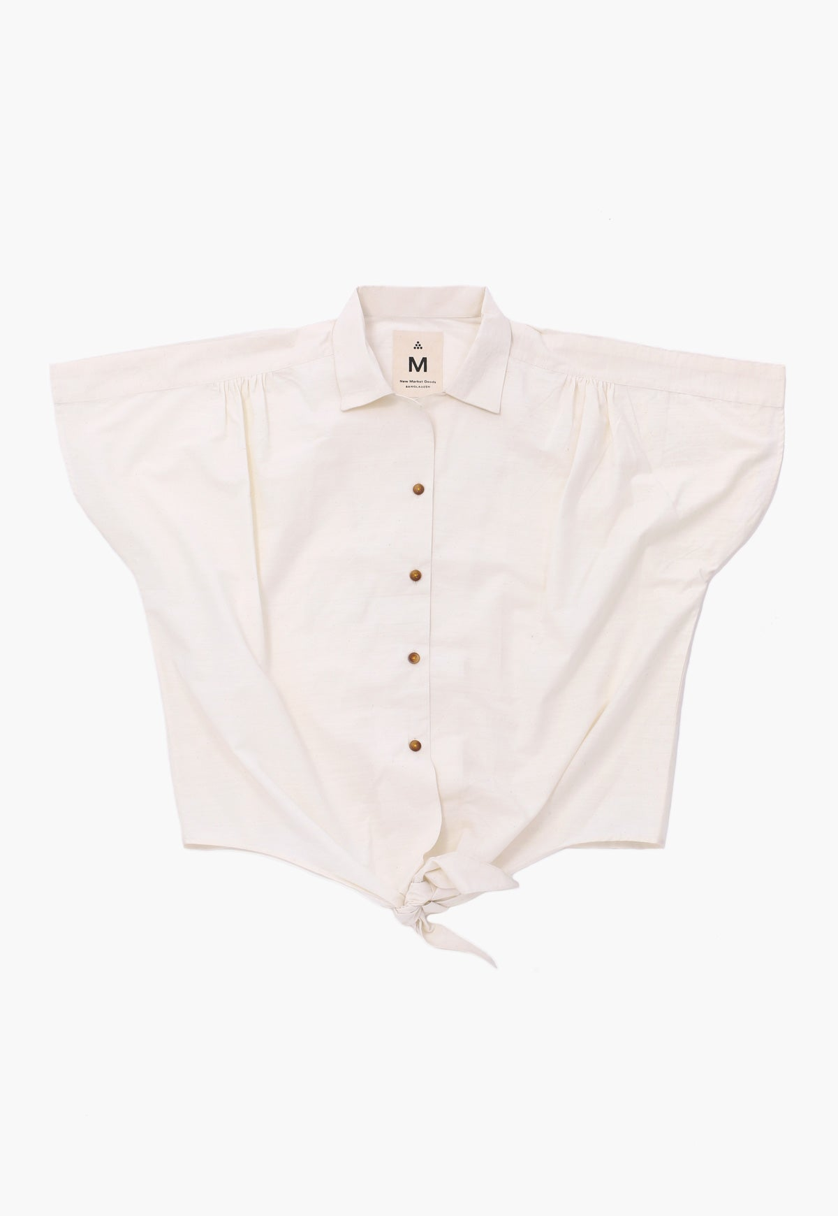 Comilla Natural Front Tie Shirt