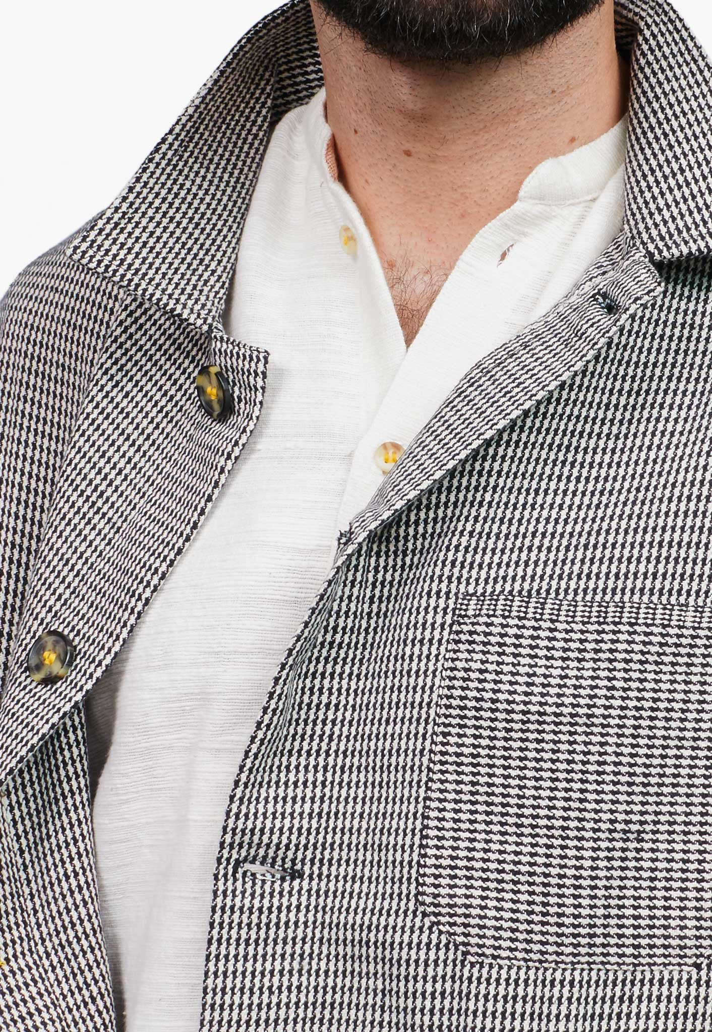 Houndstooth Canvas Chore Jacket