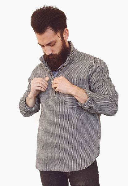 Houndstooth Long-sleeve Pullover