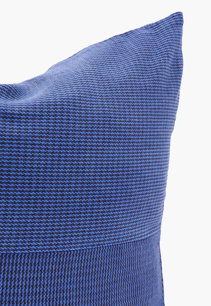 Indigo Houndstooth Pillow