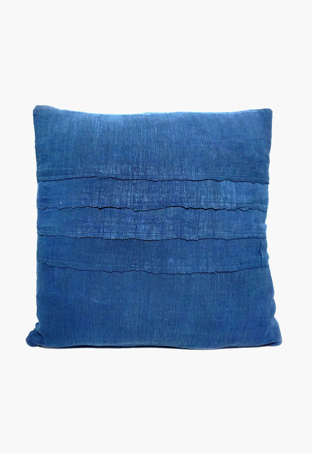 Indigo Khadi Pillow Cover